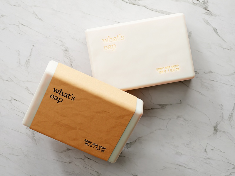 🧼 What'soap packaging design 3d render render blender3d product design blender cgi 3d branding brand bar soap dribbble weekly warm-up weeklywarmup dribbbleweeklywarmup soap