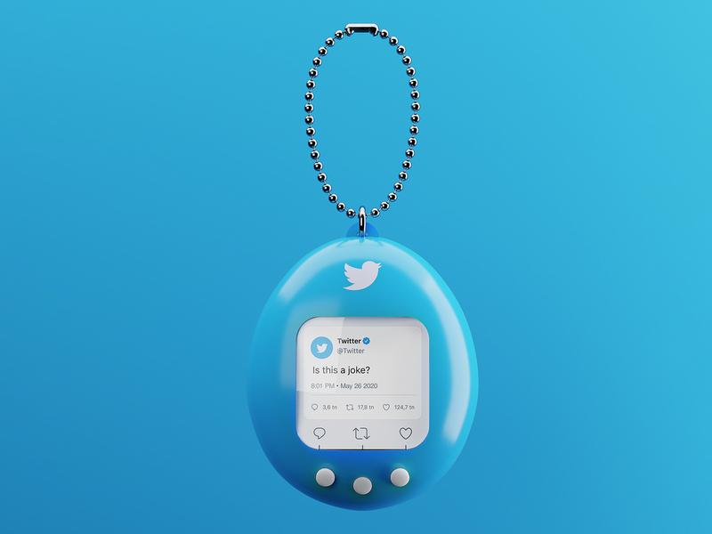 🕹️Tamagotchi x Twitter render cgi blender3d blender 3drender 3d gameboy toys toy retro tweet twitter tamagotchi
