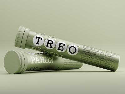 🍐 TREO® Päron branding graphic design packaging design design concept mockup concept product design design effervescent painrelief 3d modelling cgi blender render 3d render 3d pear treo