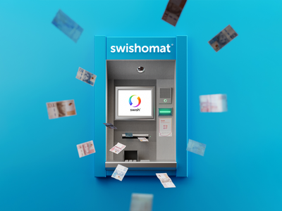 💰Swishomat cash money 3drender blender3d blender atm swedish sweden bankomat swishomat swish