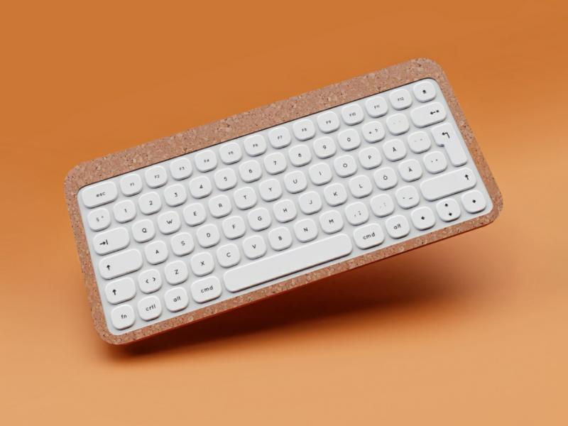 ⌨️ Corky render weekly concept prototype graphic design visual design industrial design blender cycles render 3drender 3d render b3d blender3d 3d design concept product design cork keyboard