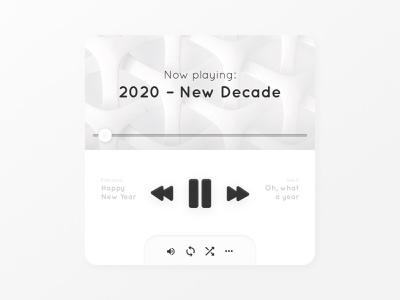 2020 – New Decade music player new year user inferface music ui music music app soft ui neumorphic neumorphism ux ui