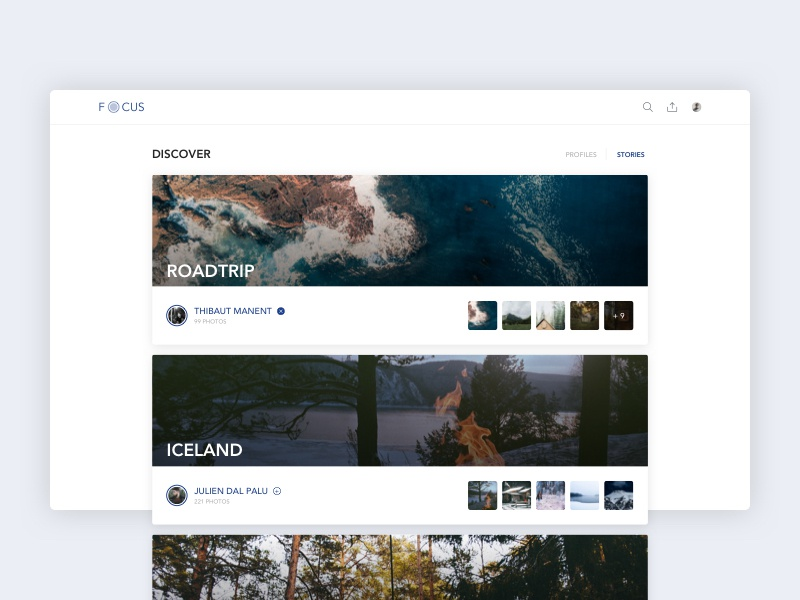 Discover Stories color creative design illustration interface material flat productdesign shadow sketch ui
