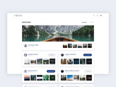 Discover Photographers ui sketch shadow productdesign flat material interface illustration design creative color