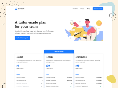 Pricing Page font tabs header choice navigation button graphic pricing plans illustration flat shadow productdesign material ui interface creative color sketch design pricing