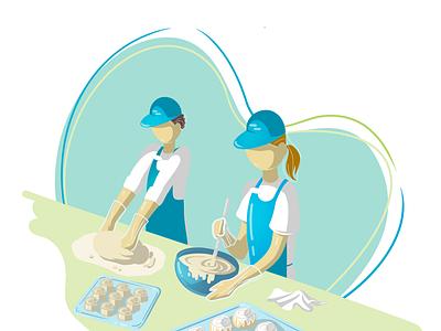 Illustration for Landing Page design illustration graphic design