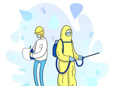 Illustration for Safety and Cleaning Website design graphic design illustration