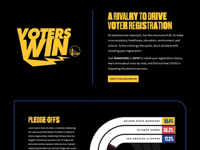 Voters Win | Golden State Warriors basketball development design