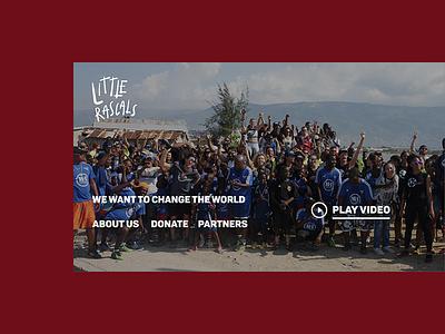 Little Rascals Foundation Homepage simplistic charity littlerascals website ux