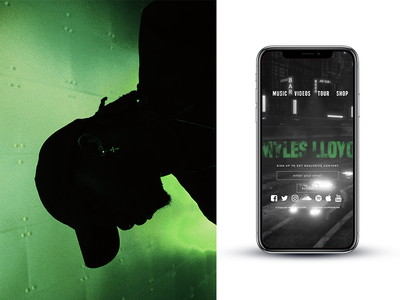 Myles Lloyd Website orlando artist music website portfolio ux ui branding design modern contemporary
