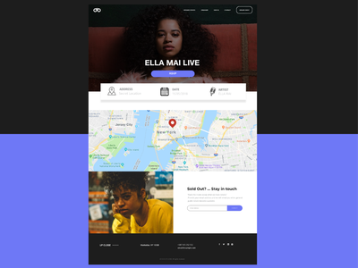 Event Web Page homepage adobe xd simple xddailychallenge music ux branding ui design