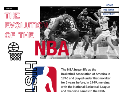 The Evolution Of The NBA | Responsive Design yourmobilegeek ui simple website ux branding design