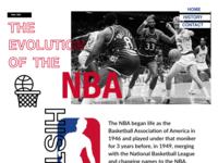 The Evolution Of The NBA | Responsive Design