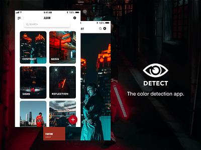 Detect | The Color Detection App mobie interaction design photography ui design mobile app ui simple ux branding design