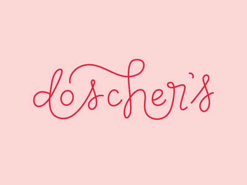 doscher's logo vector hand-lettering lettering logo script