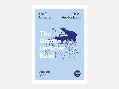 Concert Flyer Gordon Webster Utrecht