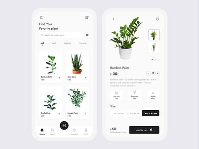 Ecommerce store for Indoor plants f22labs plantshop mobile ios app productdesign ecommerce green plants minimal icon design branding