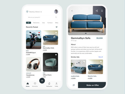 Buying and selling app userexperience userinterface monochromatic sellingapp buyingapp mobile productdesign f22labs minimal design branding