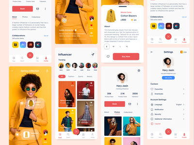 Social Commerce Application uikit socialcommerce icon mobile uidesign userexperience f22labs productdesign minimal design branding