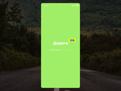 UA Roads app government clean animation green road ua ukraine ios ai ar app