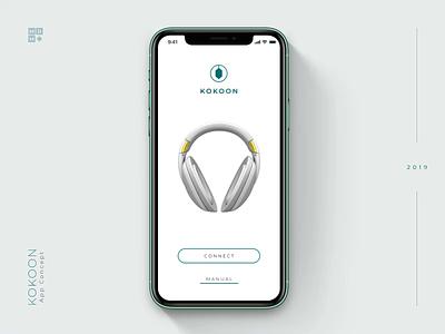 Headphones app headphones app mobile ukraine ios design clean ui motion 3d animation kokoon