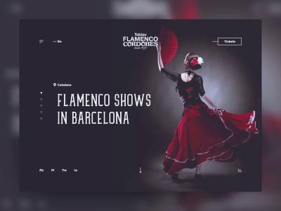 Tablao Flamenco Cordobes Landing Concept tablao motion design webdesign concept website web barcelona fan slider landing landing page ukraine design motion clean animation cordobes flamenco