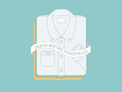 Meat+Bones – Death Before Disheveled illustration vector flat