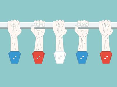 Meat+Bones – Working Man's Foosball illustration vector flat