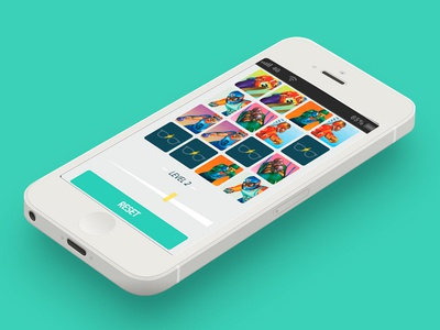 Memory match ios game interface