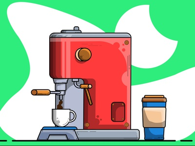 Coffee machine vector illustration design