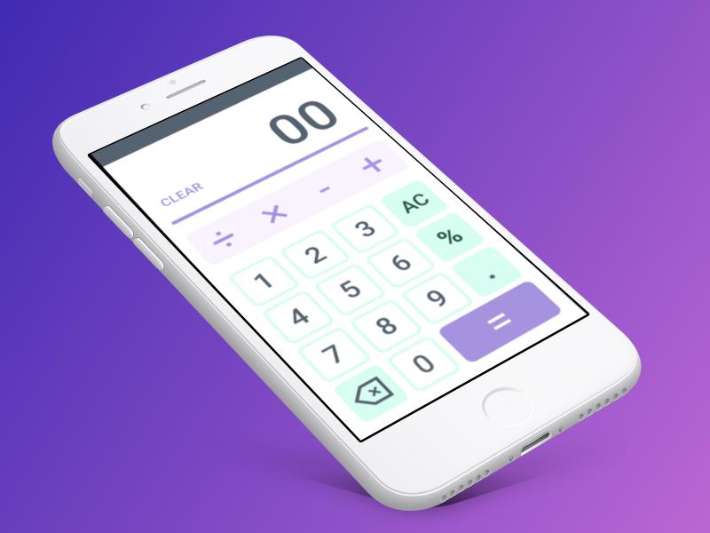 Daily UI - 004 Calculator equation iphone angle mockup ui calc math calculator dailyui004 daily daily ui