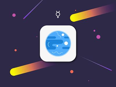 Daily UI - 005 App Icon xd icon ui planet space solar system planets mercury dailyui005 daily daily ui