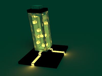 Voxel Test Tube magicavoxel magica 3d art glow cubes 3d tube test tube pixel art voxel