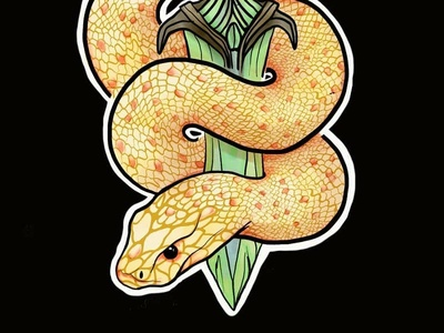 Snake with Dagger