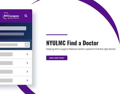 Find a Doctor Website webflow branding vector logo typography mobile abstract design ui purple medical doctor