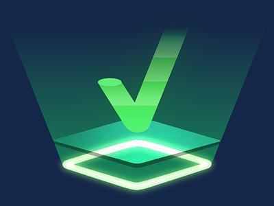 Checkmarks check glow status checkmark green design vector illustration