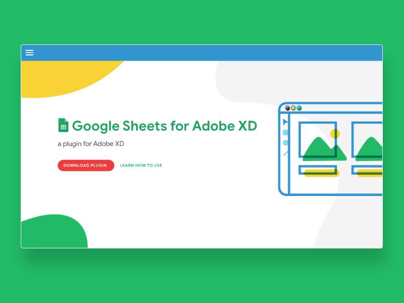 Google Sheets in Adobe XD adobe xd plugin plugin material design color illustration google sheets website xd adobe xd adobe google