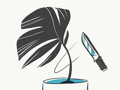 Cut the plant illustration plant lady plant illustration illustrator doodle cut leaf drawing ipad knife plant