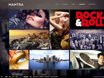 Mantra Theme wordpress theme metro portfolio photography