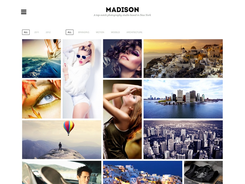Madison Theme wordpress theme metro light