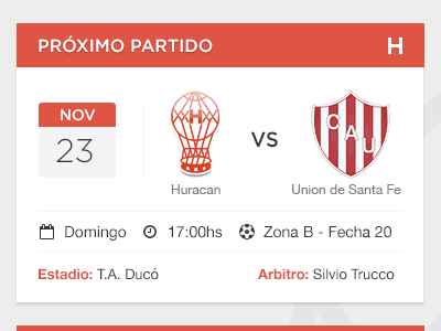 Next Match huracan football soccer sport