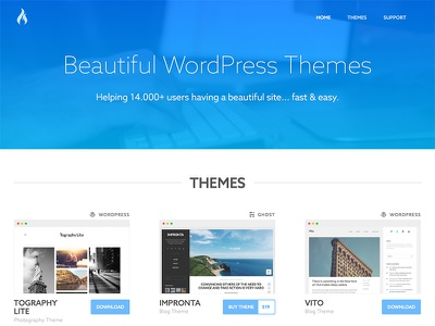 Quema Labs themes clean ghost wordpress quema labs redesign