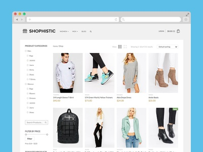 Shophistic - WordPress Theme fashion woocommerce store retail ecommerce theme shop wordpress