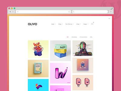Olivo - Minimalist Portfolio & WooCommerce Theme shop woocommerce wp template clean gradients portfolio theme wordpress