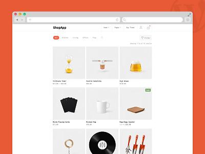 ShopApp - WordPress Theme store minimal template theme clean retail e-commerce shop woocommerce wordpress