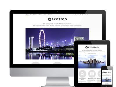 Exotico wordpress responsive