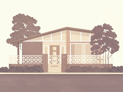 The House Collection 02 illustration architecture house home trees retro