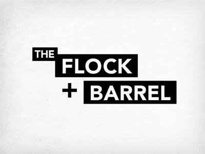 The Flock & Barrel logo branding english pub wordmark