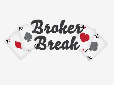 Broker Break las vegas illustration typography gambling cards