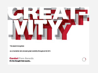 Creativity typography awards